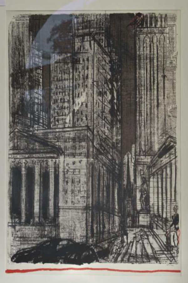 New York - ganze Lithography